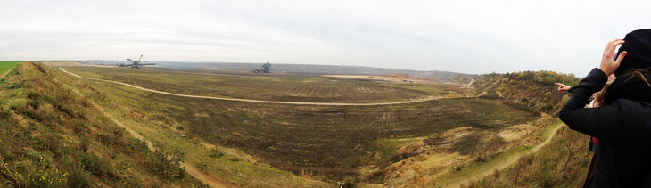 Panoramic view over the Garzweil opencast mine